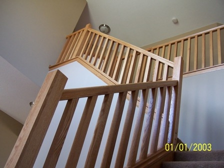 Wood Handrails Stair Parts Stair Balusters Newel Posts | Square Handrail For Stairs | Balustrade | Outdoor | Hand Rail | Low Cost | Residential