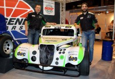 Simon Belcher & Rob Austin with the Handy Motorsports Legends series car