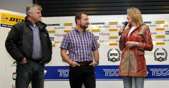ITV's Tim Harvey, David Addison and Louise Goodman