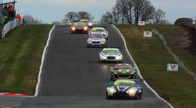 British GT Oulton Park Haigh and Adams make history but rain stops play