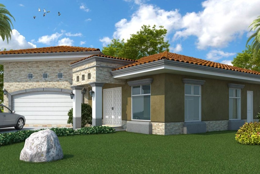 Casa Flora Front View verde