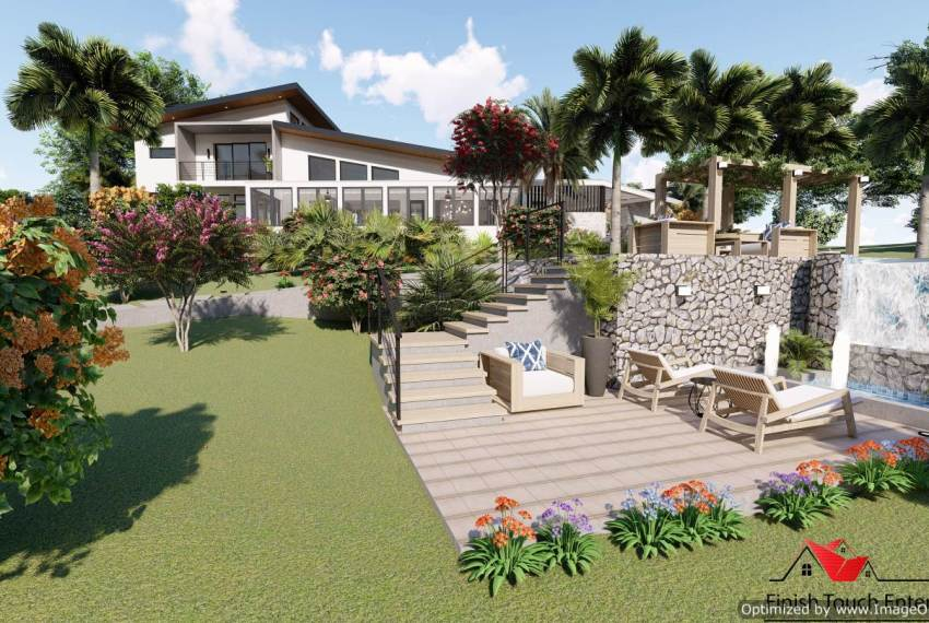 Casa Mariposa landscaping