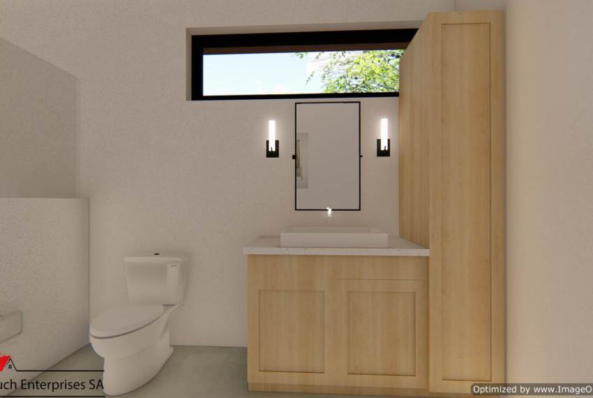Upper Bathroom energy efficient