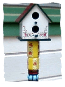 Painted-birdhouse