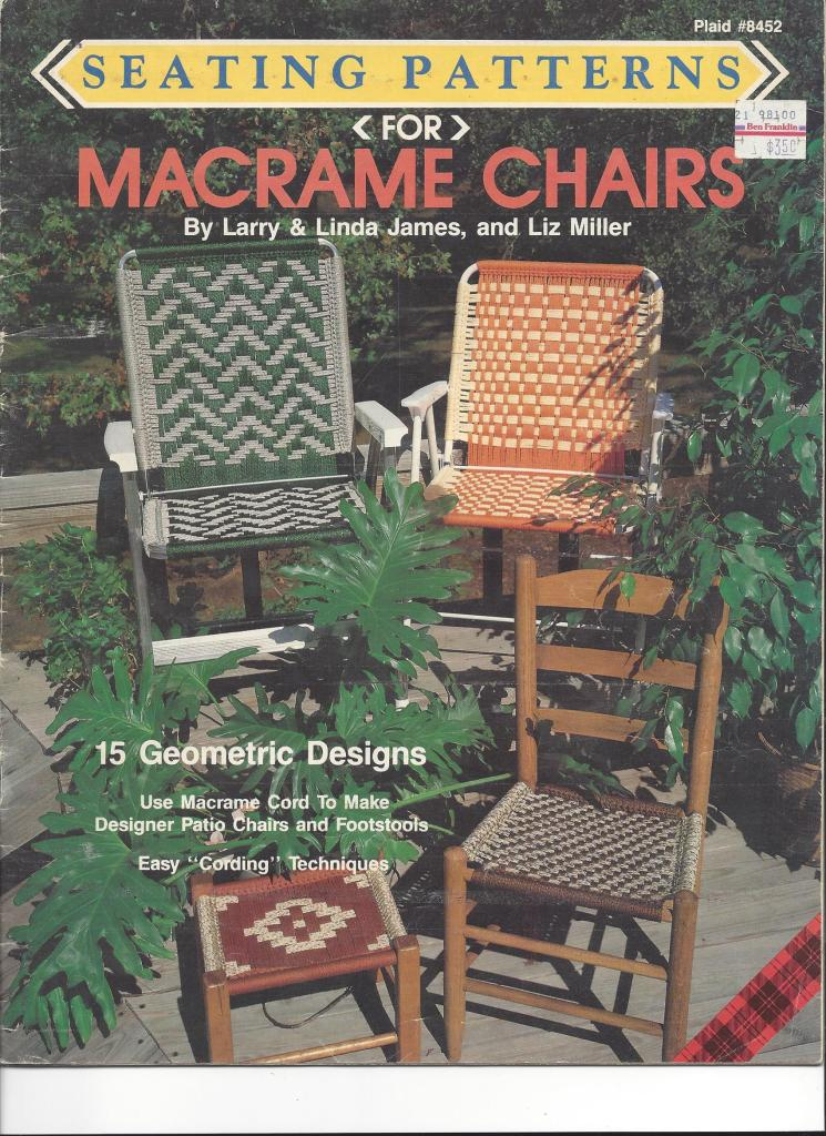 Macramé: How-to Restore A Chair & Bench art and craft Finish Your Crafts