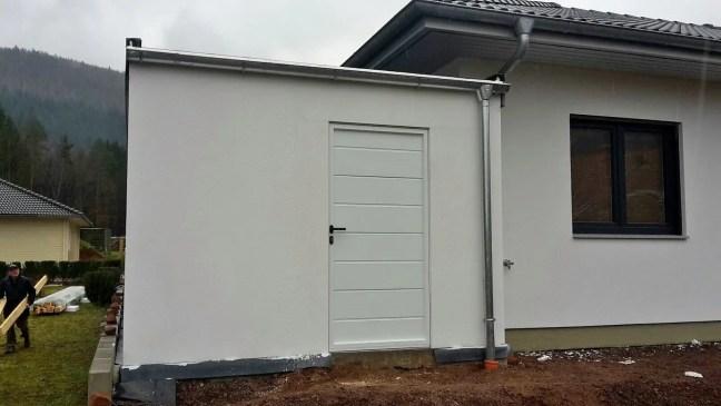 Bild Garage 3x9 m in Holzständerbauweise Rückwand