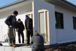 Bild Aufbau Garage Holzständerbauweise 1