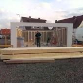 Fink Garage Oberbeisheim Holzständerbauweise Korpus steht