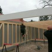 Dachbalken montieren Fink Garage Berlin