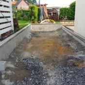 Fink Garage Menden / NRW - Streifenfundament