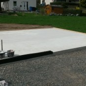 Fink Garage Dautphetal / Hessen - Bodenplatte / Fundament