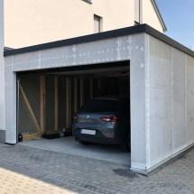 Fink-Garage Holzständerbauweise Winkelgarage Seitenansicht Weiterstadt