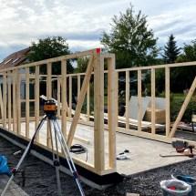 Fink Garage Holzständerbauweise Bausatz Aufbau Grundkorpus