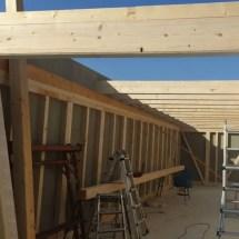 Fink Garage - Dachsparren werden aufgelegt und befestigt