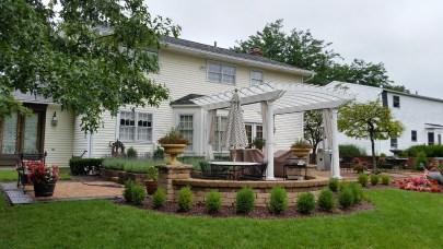 Backyard renovation in Gahanna, OH