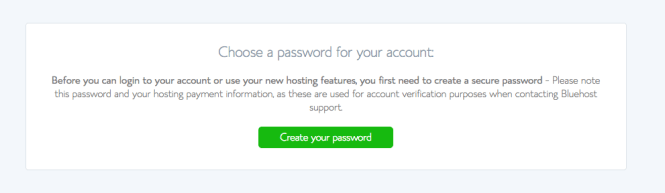 how to start a wordpress blog on bluehost - password