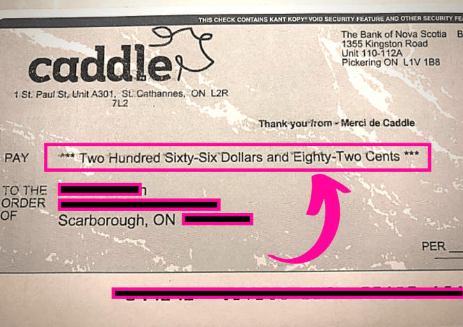 caddle review free money check