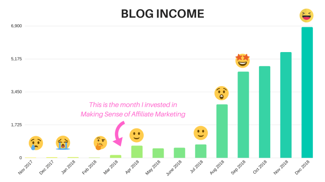 how to make money blogging - Making Sense of Affiliate Marketing blog income results
