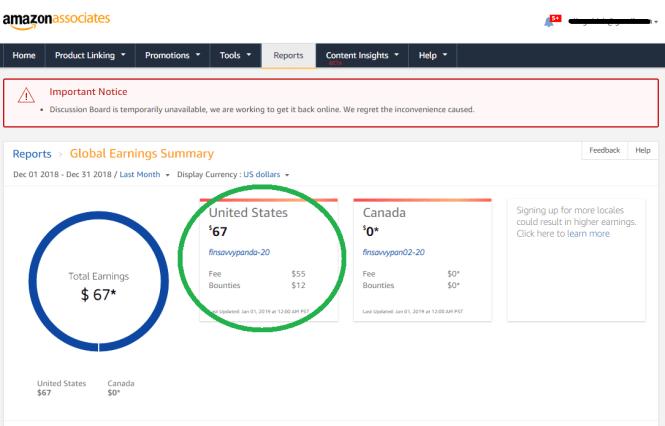 blog income report december - screenshot for finsavvypanda