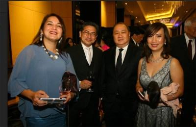 IFC Rachel Pestano; Bloomberg Anchor Tony Abad; PLDT Group Chairman Manuel V. Pangilinan; IFC Griselda Santos