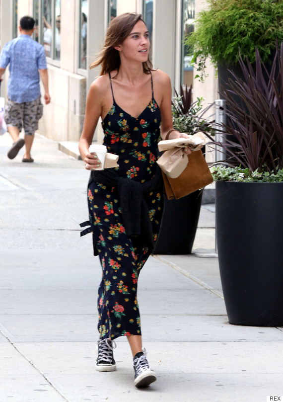 Alexa Chung out and about, New York, America - 31 Aug 2015