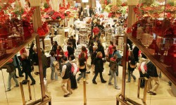 Christmas shopping fever
