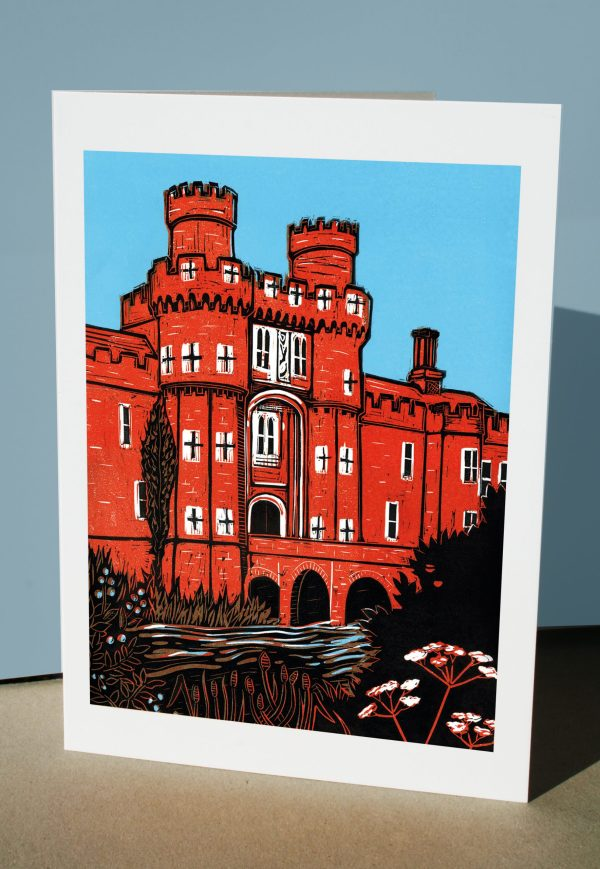Greetings card of Herstmonceux Castle