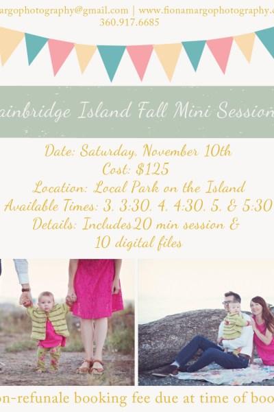Bainbridge Island Holiday Mini Sessions!
