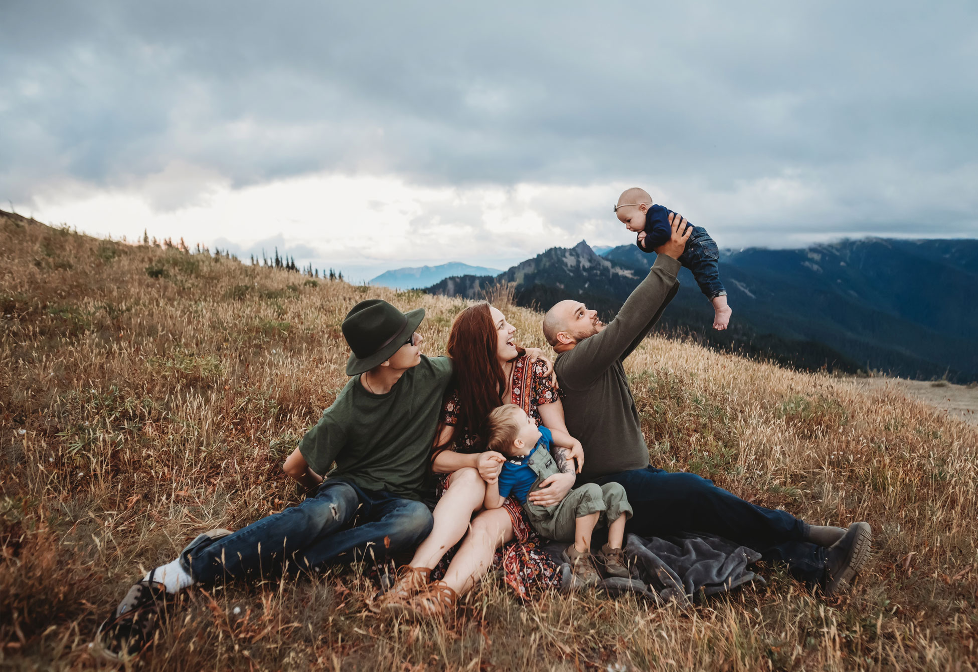 baby at family session at Hurricane Ridge