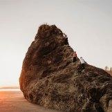huge rock at ruby beach washington