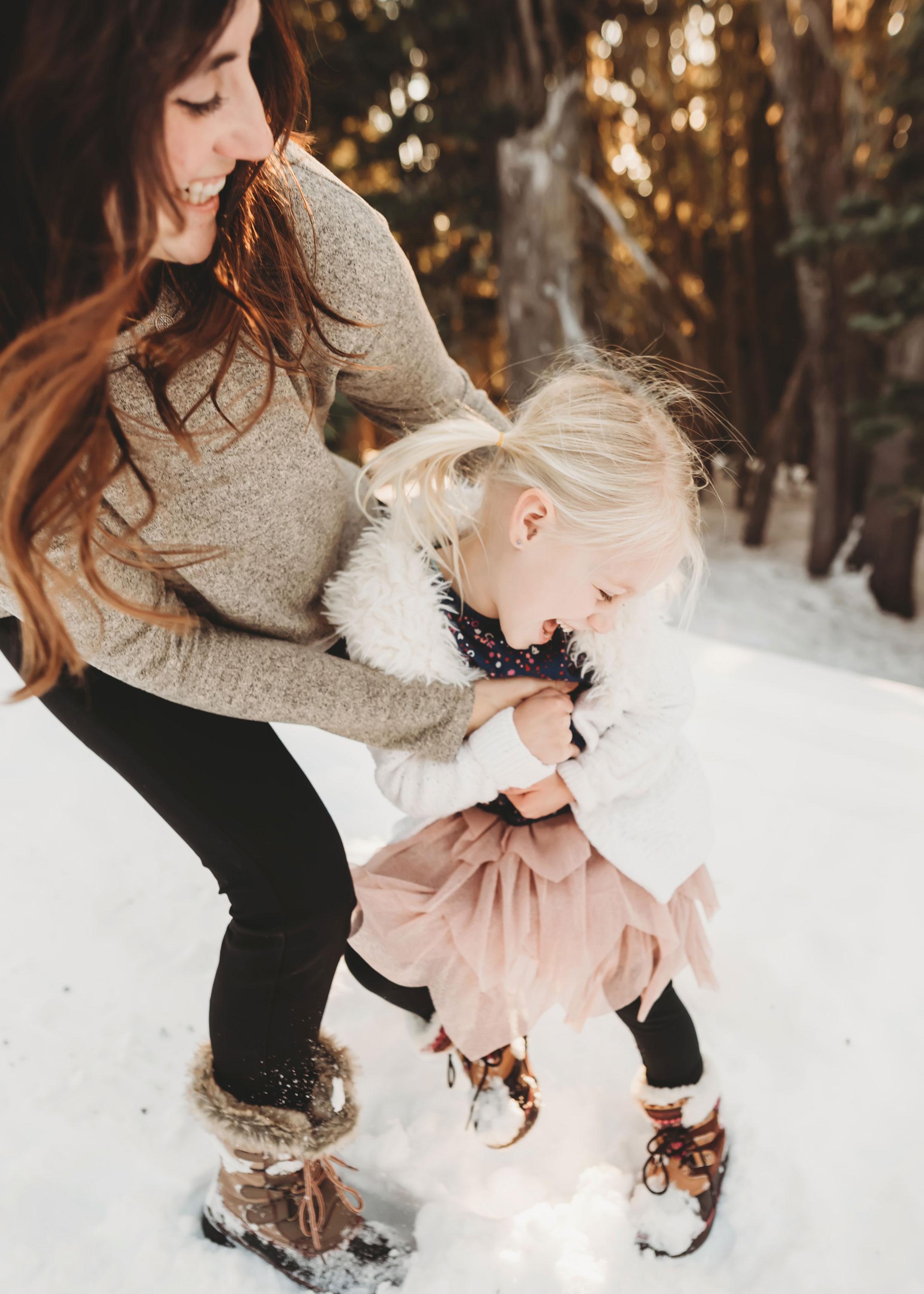 mom and daughter at Hurricane Ridge Washington
