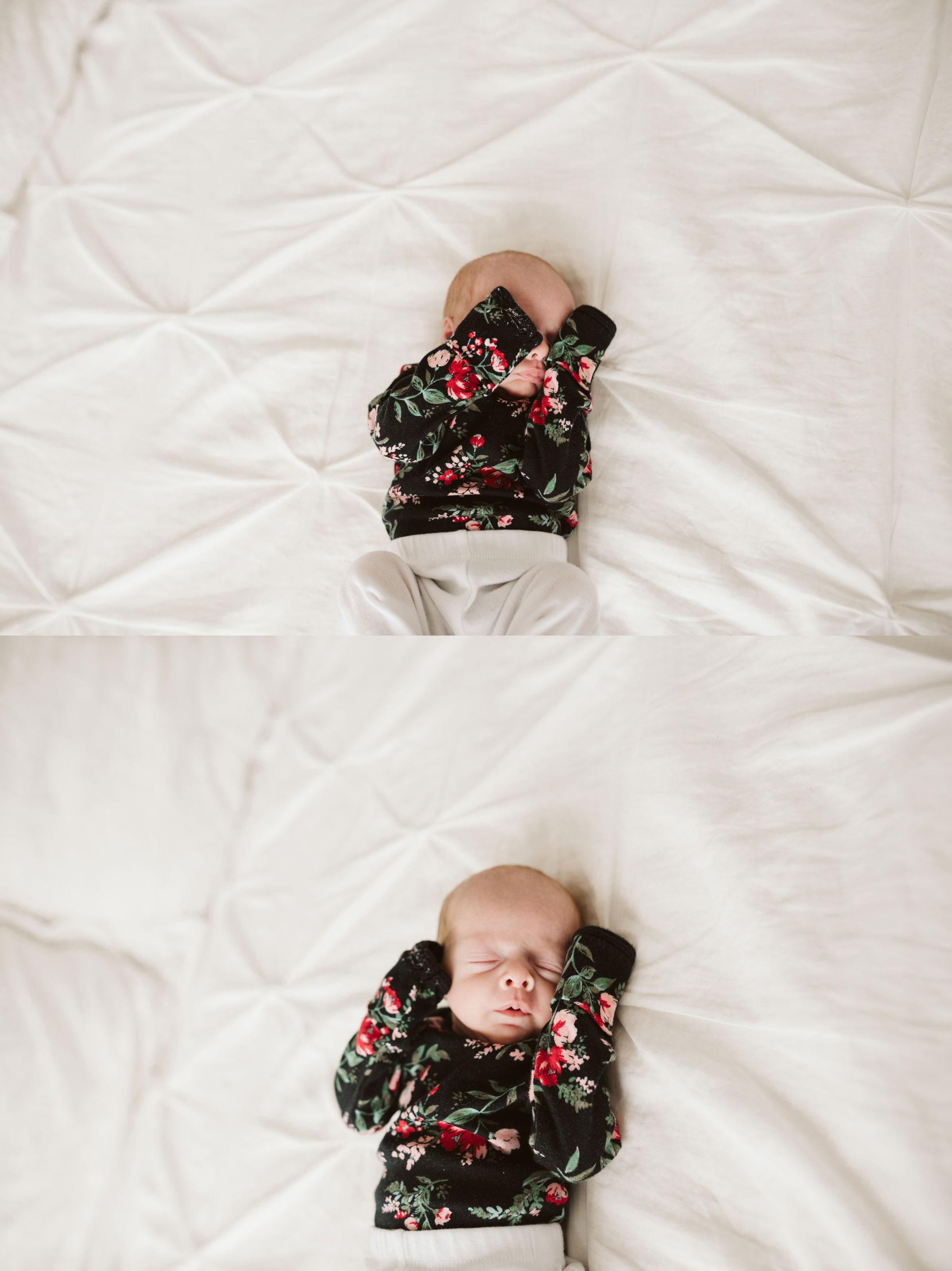 cute baby girl covering eyes