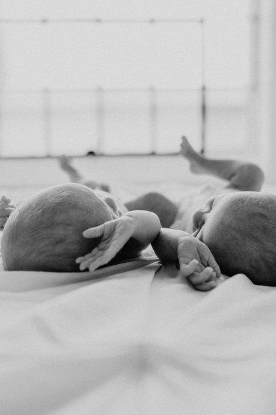 Twin Newborn Session in the Seattle Studio!