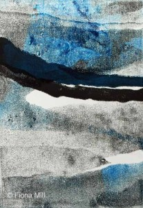 hillscape1, 2014, 21 x 28cm, monoprint *SOLD*