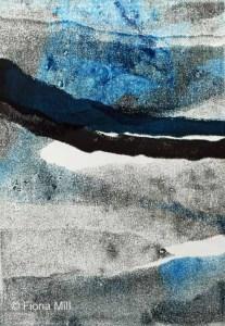 landscape1, 2014, 21 x 28cm, monoprint