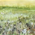 'river meadow', mixed media