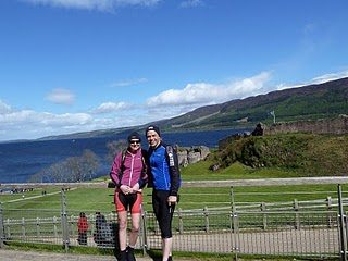Urquhart Castle, on the west bank of Loch Ness