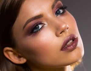 gorgeous girl with makeup