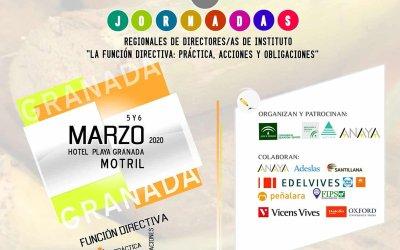 XX JORNADAS REGIONALES DE DIRECTORES/AS DE INSTITUTO