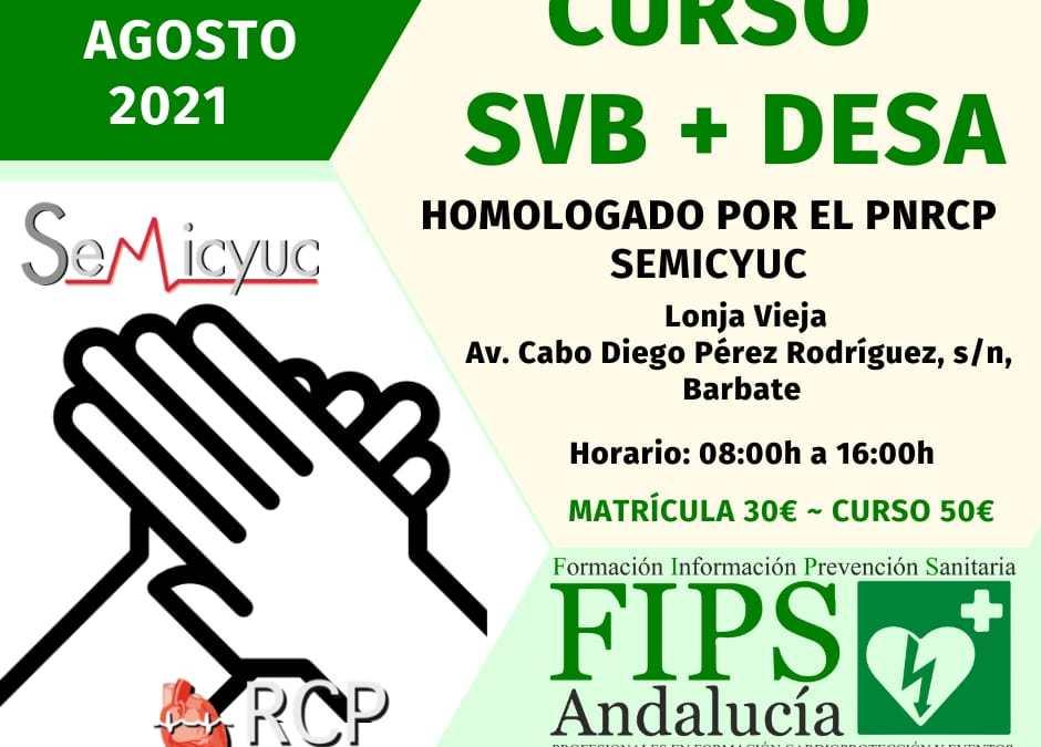 II Edición Curso Soporte Vital Básico y Dea en Cádiz