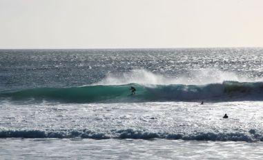 Surfer Llandudno beach=