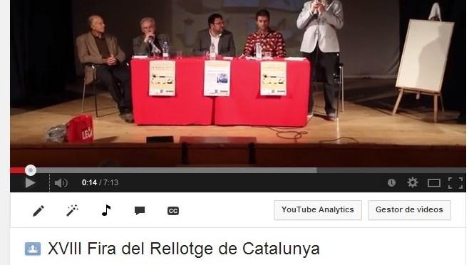 Video de la XVIII Fira del Rellotge, any 2013