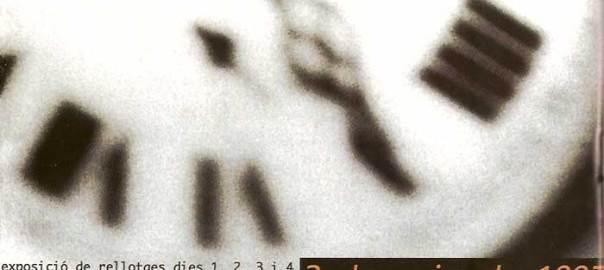 II Fira del Rellotge de Catalunya, 1, 2, 3 i 4 de maig de 1997