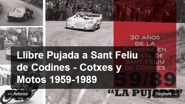 Llibre Pujada a Sant Feliu de Codines – Cotxes i Motos 1959-1989