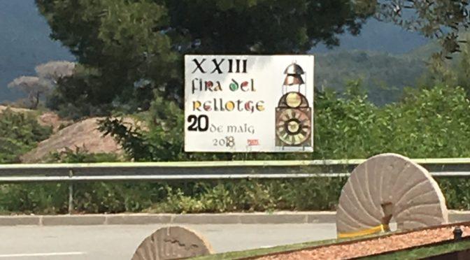 A tres dies de la XXIII Fira del Rellotge! Diumenge 20 de maig de 2018