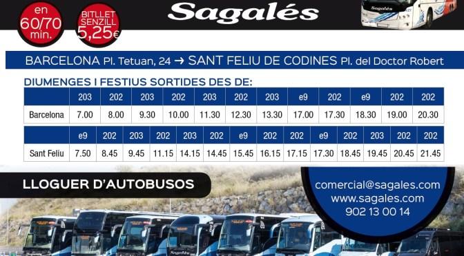 Vine a la Fira amb Transport Públic, amb l'autobús de línia Sagalés