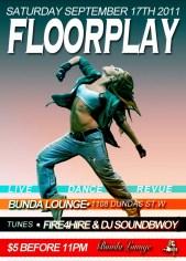 Floorplay @ Bunda Lounge - Saturday, September 17th