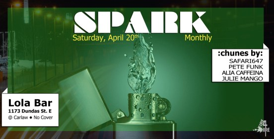 Spark April Lola Bar Pete Funk Fire 4 Hire Sound Safari647 20th