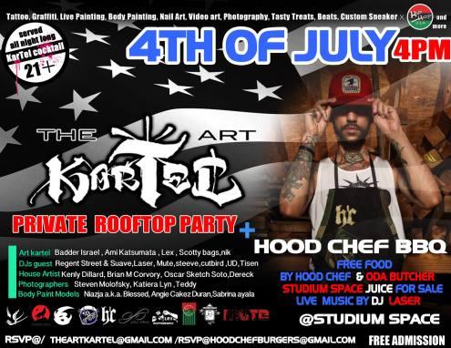 The Art KArtel July 4th BBQ Regent Street