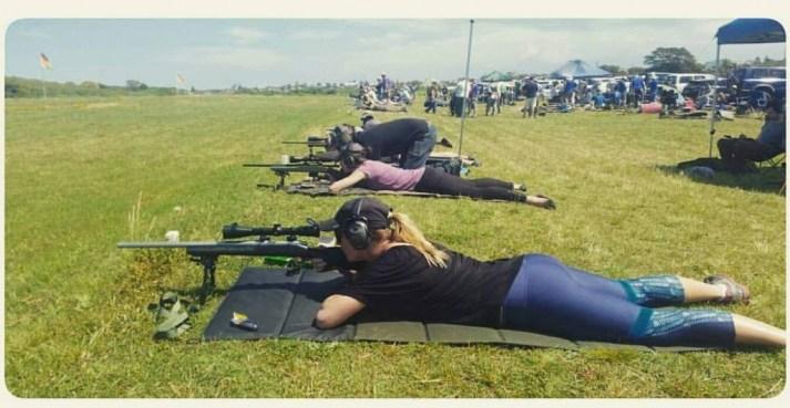 Not just an excellent shotgun artist, Gemma is a crack-shot with a rifle as well!